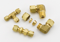 Double Ferrule Tube Fittings - Brass