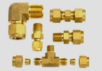 Single Ferrule Tube Fittings - Brass
