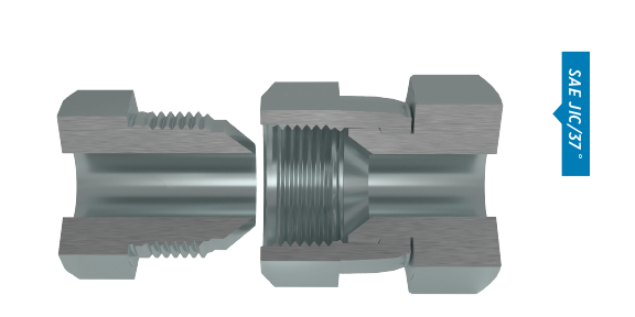 27 Units Brennan 1//2 in Female JIC 37/° Flare x 1//2 in Male JIC 37/° Flare Steel Straight Adapter